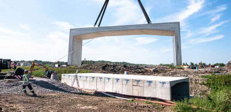 3-SIDED CULVERT FOR BRIDGE IN NEW COMMUNITY